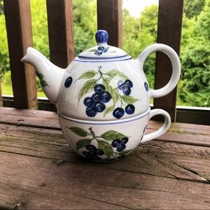 Other - 🆕💐 Tea for One Pot and Teacup Combination, glass